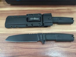 extrema ratio tactical Australia - Hot Sale! Extrema Ratio Task knife 7Cr13 Black Blade Black Forprene Handle Outdoor Survival Straight Knives With Kydex sheather
