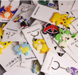 EEvEE figurE online shopping - Keychain cm Style Pikachu Charmander Bulbasaur Squirtle Dragonite Eevee Mewtwo Snorlax PVC Keychain Action Figure For Party Gifts