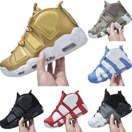 more shoes 2019 - With Box 2019 More Uptempo OG Leather Splicing Mens Basketball Boots Air More Uptempo OG TPR Built in Air Cushioning Spo