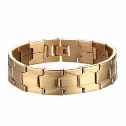 stainless steel fashion cuff 2019 - Men Fashion Stainless Steel Chain link strand Bracelet Bangle Wristwatch Band Jewelry Decor Gift discount stainless stee