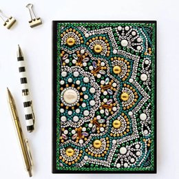 $enCountryForm.capitalKeyWord Australia - Zooya Diy 5d Special Diamond Painting Notebook Diamond Embroidery Notebook Diamond Mosaic A5 Diary Book Picture Gift NB25