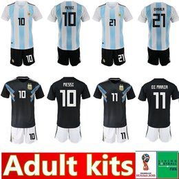 4049ed300 Discount argentina home kit - 2018 World Cup Argentina adult kit Soccer  Jerseys Home Messi DYBALA