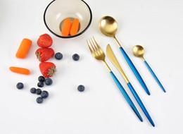 $enCountryForm.capitalKeyWord Australia - 2018 Gold Tableware Set Stainless Steel Material Western Tableware Luxury Knife Fork Spoon Cutlery Set Free shipping Kitchen accessories