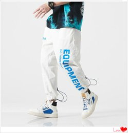 $enCountryForm.capitalKeyWord Australia - Fashion Mens Joggers with Letters Fashion Brand Track Pants for Men Designer Pants Autumn Drawstring Long Pant Mens Clothing M-3XL
