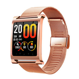golden color watches Canada - Smart Bracelet K6 Heart Rate Smart Fitness Tracker IP68 Waterproof Sleep Monitor Android IOS Phone Watch Color Screen Sport Band