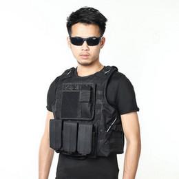 Discount tactical combat vest black - by dhl 10pcs new USMC Tactical Molle Combat Assault Plate Carrier Vest CS Outdoor Equipment Army Camouflage