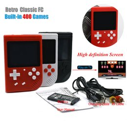 1.8 Inch Screen NZ - 400 in 1 G4 Sup Retro FC 8 Bit Mini Handheld Portable Game Players Game Console 3 LCD Screen Texture Surface Support