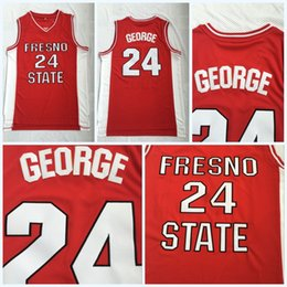 $enCountryForm.capitalKeyWord NZ - Paul George Jersey 24 COLLEGE Basketball Fresno State Bulldogs Jerseys Red Color100% Stitched College Basketball Jerseys S-3XL Fast Shipping