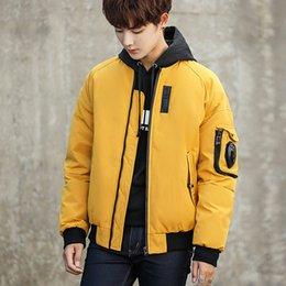 Fiber Slim Australia - 2019 New Trend Men's Casual Coats Slim Large Sizes China Brand Korean Fashion Leisurely Baseball Warm Clothes Jackets