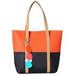 $enCountryForm.capitalKeyWord UK - MUQGEW Fashion Women Girls Handbags Hanging Ornament Shoulder Bag Candy Color Fringed Heart Totes Patchwork Mixed Color Bags