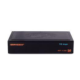 Wifi satellite tv box online shopping - TV Box iBRAVEBOX V8 Magic DDR3 GB Flash M Built in WIFI Support Satellite Free Year CLines