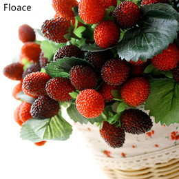 $enCountryForm.capitalKeyWord Australia - decoration flowers Floace 9 Fruit Decoration Flower Fruit Paddle Strawberry Photo Props Artificial Plant Paddle Mulberry For home party