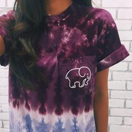 90e8b9cec456 2 colors 2019 summer Fashion women ivory ella elephant printed t shirt  women short sleeves woman tee t-shirt tops girl tshirt