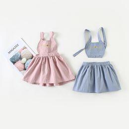 $enCountryForm.capitalKeyWord Australia - Cute Cat Embroidery Baby Girls Dresses Spring Summer Sleeveless Strap Princess Dress Casual Costume Kids Clothes Tutu Vestidos