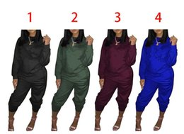 large bowl pipes UK - Large Size Women Sport Wear Stand Collar Tracksuits Sexy Women Casual Suit Zipper Pullover With Pant Jogging 2pc Set