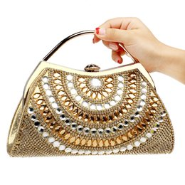 fashion satin evening bag UK - Dgrain Women Gold Box Clutch Handbags Hand Top Evening Party Dinner Bags Ladies Fashion Chain Shoulder Bag Wristlet Evening Bag Day Clutch