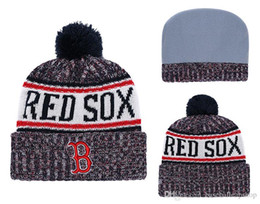 Free Shipping One Piece Cheap Baseball Beanies Team Logo Embroidered Red  Sox Cuffed Knit Hat Sport Boston Skull Men Women Winter Caps 5d6bed0cab64