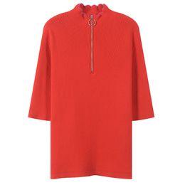 $enCountryForm.capitalKeyWord UK - Women Sweater Elegant Bodycon Zippers Jumper Turtleneck Jersey Runway Slim Half Sleeve Pullovers Knitted Top Office Lady Autumn