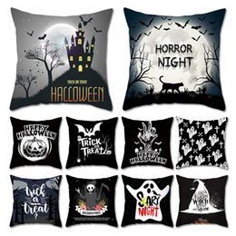 body pillow case wholesaler Australia - Halloween Pumpkin ghost Pillow Case Pillowcase Home Sofa Car Cushion cover Xmas Gifts Home Decorative Without core 45*45cm 32 styles C645