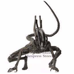 "scale pvc action figure model toy UK - Toyspark Aliens 7"" Scale Xenomorph Alien Action Figure Extendable Inner Mouth Covenant Moive Collectible 2017 Neca Alien Series J190719"