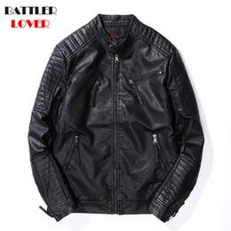 Mens Parka Leather Australia - Mens Leather Coat Winter Faux Leather Warm Outwear Coats Men Punk Fleece Parka Jackets Hombre Thick PU Overcoats Brand Clothing