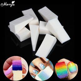 $enCountryForm.capitalKeyWord Australia - Monja 12 16 24pcs Nail Art Gradient Color Stamping Sponge Gel Polish Varnish 3d Image Diy Transfer Soft Triangle Coloring Tools