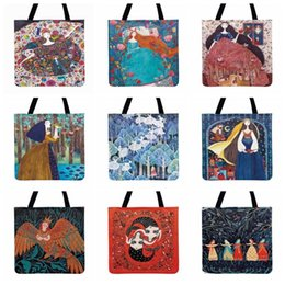 wholesale bronze fairies Australia - Forest Story Little Fairy Painting Printed Tote Bag For Women Casual Totes Fashion Shopping Bag Outdoor Beach Shoulder Bags