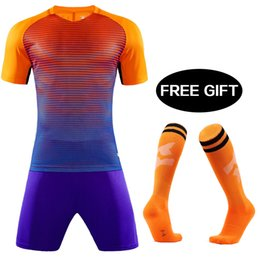 30a5bc9e81a 2019 Men Kids Breathable Soccer Set survetement football kit Custom Team  Children youth Futbol jerseys Training Uniforms