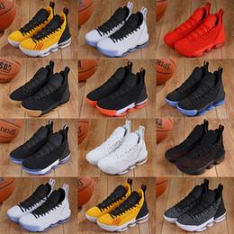 Ingrosso Quali sono le scarpe da basket 16 16 Graffiti Purple Fluorescent Green White Orange Scarpe da ginnastica Lebron 16s uomo Jogging Taglia 40-46