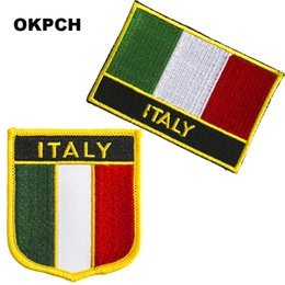 $enCountryForm.capitalKeyWord UK - Free Shipping Italy Flag Embroidery Iron on Patch 2pcs per Set PT0206-2