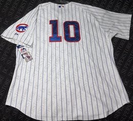 santo jersey NZ - 100% embroidery RON SANTO PINSTRIPE JERSEY Stitched customize any number name MEN Vintage Jersey XS-5XL