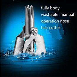 $enCountryForm.capitalKeyWord Australia - Washable Nose Hair Shaver Cutter Stainless Steel Manual Operation Vibrissia Shaving Safety Nose Haircut Clipper Trimmer Cutting