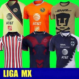 77fec159ee4 Mexican League Jersey Soccer Club LIGA MX CF Chivas Guadalajara America  UNAM Rayados Monterrey Tigres UANL Football Kits Shirt Custom Name