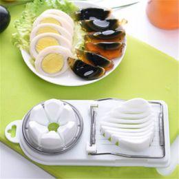 Egg Slicer Cutter Australia - Stainless Steel Boiled Egg Slicer Cutter Mushroom Tomato Kitchen Chopper