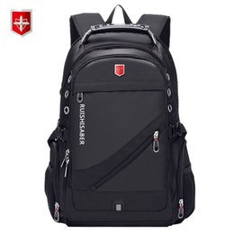 swiss backpacks laptop NZ - Oxford Swiss 17 Inch Laptop Backpack Men USB Charging Waterproof Travel Backpack Women Rucksack Male Vintage School Bag mochila SH190918