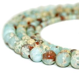 Discount rose quartz beads 8mm - Natural Stone Beads Blue Imperial Jasper Persian Gulf Agate Red Tiger Eye Rose Quartz Gemstone Round Loose Beads for Jew