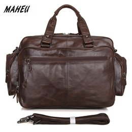 Use Laptops Australia - MAHEU Best Quality Leather Briefcase Genuine Leather Crossbody Messenger Bag Business Laptop Bags Offical Daily Use Hot Fashion