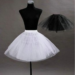 $enCountryForm.capitalKeyWord Australia - White Black Tulle Short Knee Length Crinoline Petticoat 3 Layer Underskirt Fast Shipping 2018