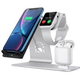smart watches phones apple Australia - Wireless Charger For Apple Watch 10W iWatch iPhone Airpods Fast Charging 3 in 1 Phone Adapter DHL