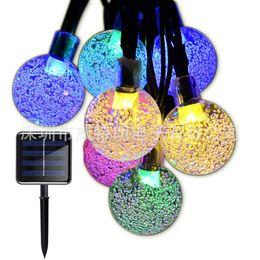 $enCountryForm.capitalKeyWord Australia - Foxanon Globe Crystal Ball String Light Solar Lawn Lights 8 Mode Waterproof Outdoor Lighting Christmas Decor For Garden Fence