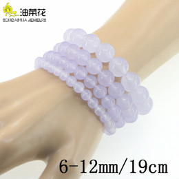 quartz stone price Canada - Charm Natural Stone 6-12mm Round Loose Bead Bracelet Gems Violet Jades Woman Yoga Accessories Christmas Wedding Gift Wholesale Price