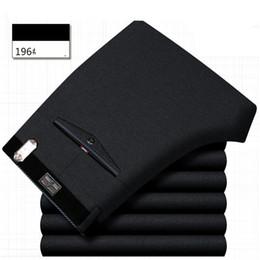 Office dress suits online shopping - ICPANS Mens Trouser Office formal Business Smart Suit Pants Men Polyester Cotton Classic Wedding Dress Pants Men Black Blue