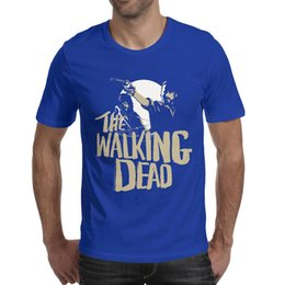 $enCountryForm.capitalKeyWord Australia - Men design printing Walking Dead blue t shirt design undershirt graphic superhero champion shirts awesome t shirt fashion trendy musical
