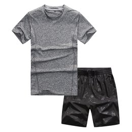 $enCountryForm.capitalKeyWord NZ - Fashion-8XL Men's Set Summer Clothes Street Casual Wear 2PC Tees w Shorts Mens Summer Clothing Casual Plus Size Solid Color