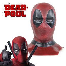 $enCountryForm.capitalKeyWord Australia - 2019 Deadpool 2 Mask Deluxe Adult Deadpool Cosplay Full Face Mask Hood Helmet Marvel Superhero Halloween Props Costume Accessories