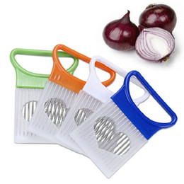 $enCountryForm.capitalKeyWord Australia - 300pcs Easy Cut Onion Holder Fork Stainless Steel +Plastic Vegetable Slicer Tomato Cutter Metal Meat Needle Gadgets Meat Frok