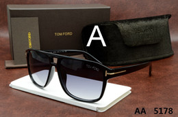Vente en gros Luxe haut de gamme nouvelle mode 5178 Tom Lunettes de soleil pour homme femme Erika Ford Marque Designer 5178 5177 0394
