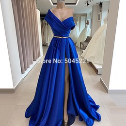 $enCountryForm.capitalKeyWord UK - Blue Stain Long Evening Dresses For Dubai Design Vestido De Soiree Turkish Islamic Prom Dress Arabic Split Party Gowns Kaftans