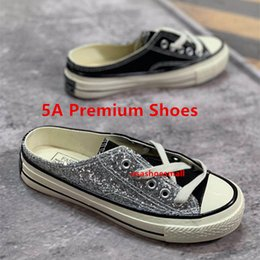 loafer new shoes leather 2019 - withbox new fashion women's loafers multicolor sequined breathable slipper designer shoes Canvas shoes Skateboard s