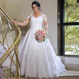 Dress For Wedding Muslim Australia - 2019 Graceful Long Sleeve Lace Abric Dubai Wedding Dress For Bride Islamic Wedding Gowns Wedding Bridal Dress Vestido De Noiva